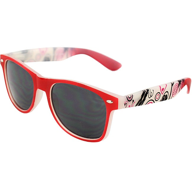 Urban Men's Red Rubber Soft Touch Frame Sunglasses