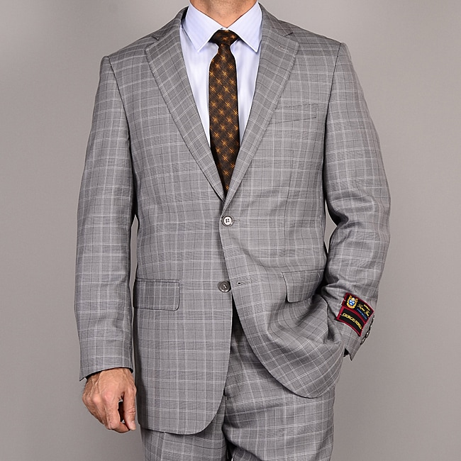 Men's Gray Plaid Suit