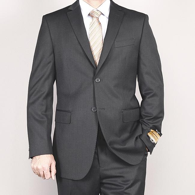 Men's Gray Wool/ Silk Suit