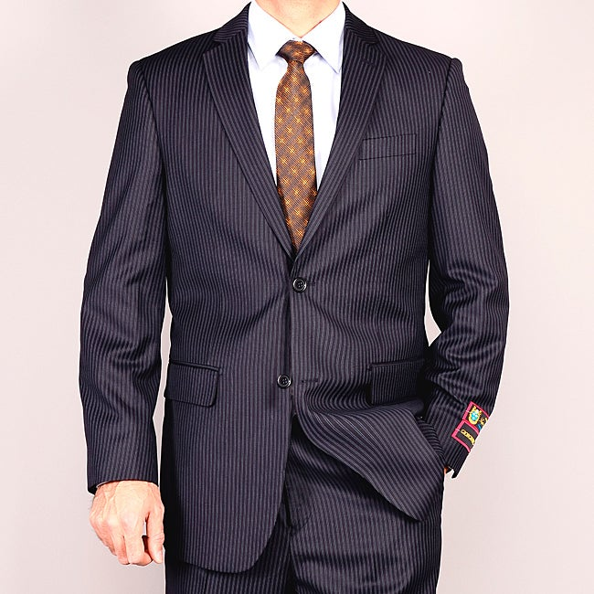 Men's Navy Stripe Suit - Blue