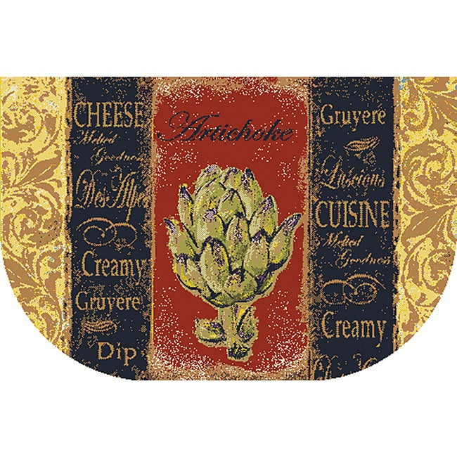 French Veggies Kitchen Accent Rug (1'6 x 2'6)