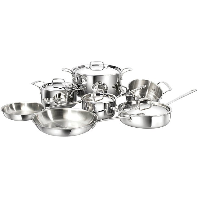 Cool Clad Tri-ply Stainless Steel 11-piece Cookware Set