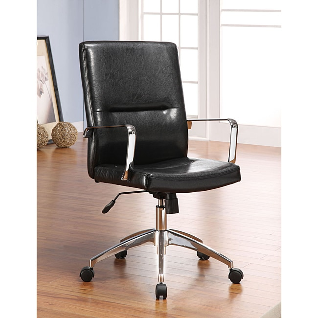 Black Bonded Leather Executive Office Chair