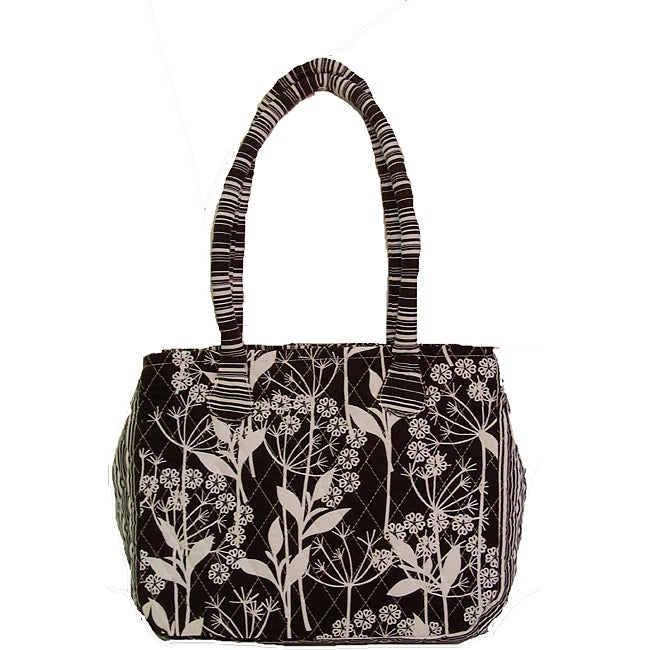 Laura Ashley Quilted Floral Tote Bag - Free Shipping On Orders Over $45 - Overstock.com - 14238262