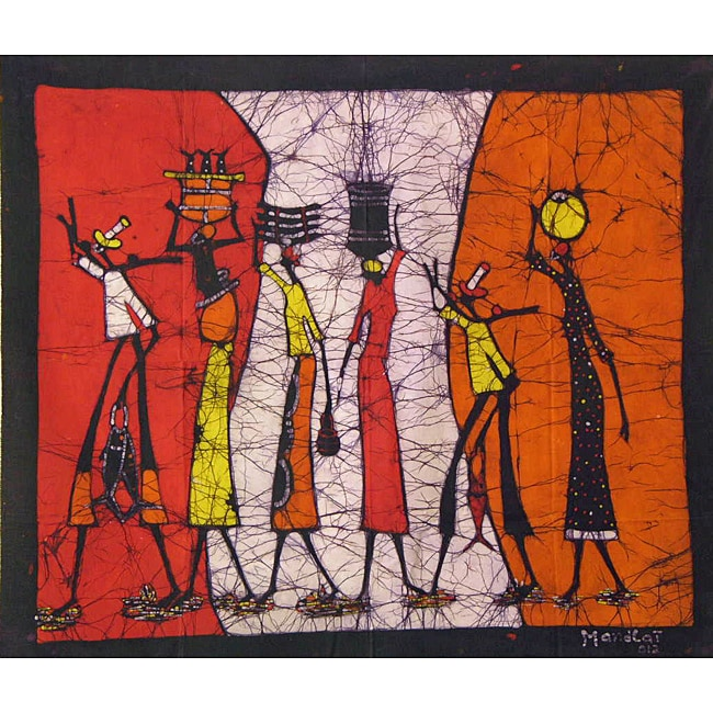 'The Days Catch' Batik Wall Hanging (Mozambique)