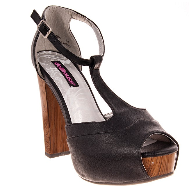 Riverberry Women's 'Curia' Black Platform Heels