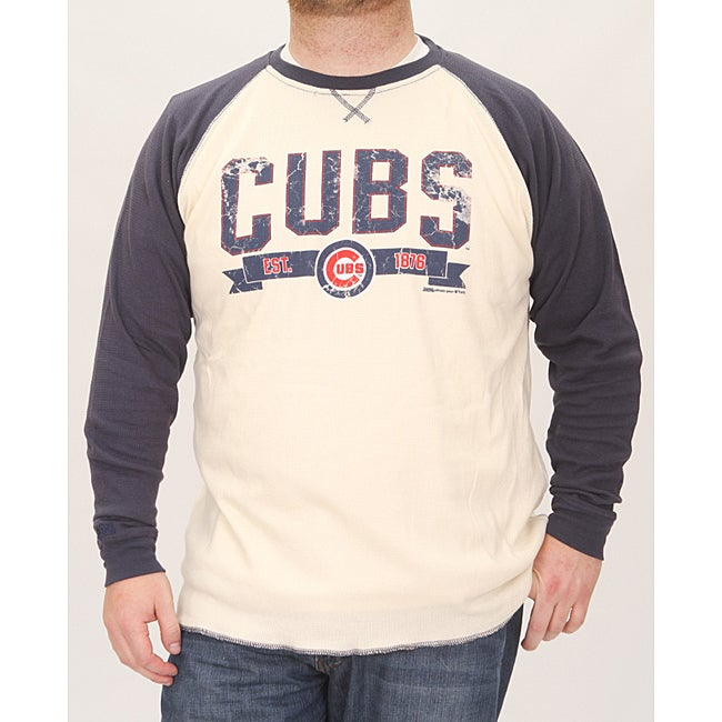 Stitches Men's Chicago Cubs Raglan Thermal Shirt - Thumbnail 0