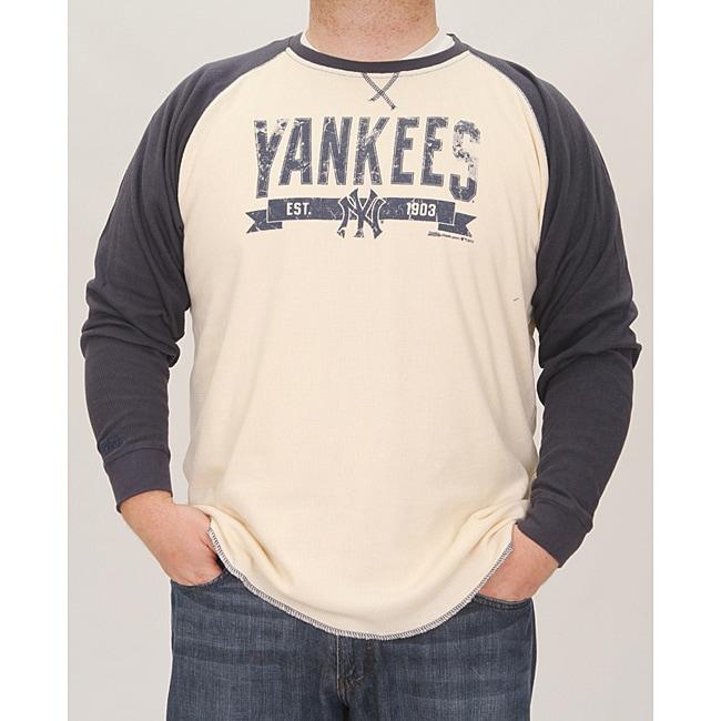 Stitches Men's New York Yankees Raglan Thermal Shirt