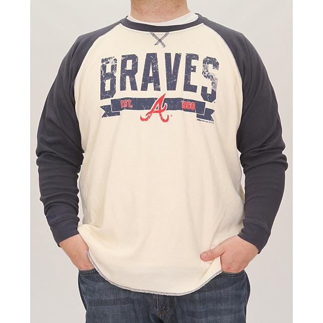 Stitches Men's Atlanta Braves Raglan Thermal Shirt