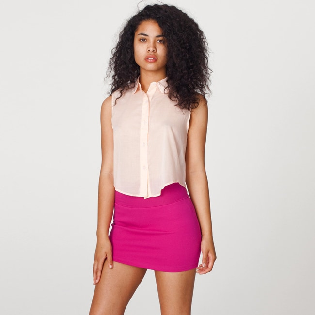 American Apparel Interlock Mini Skirt