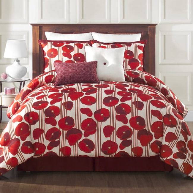 VCNY Poppy Reversible 8-piece Comforter Set