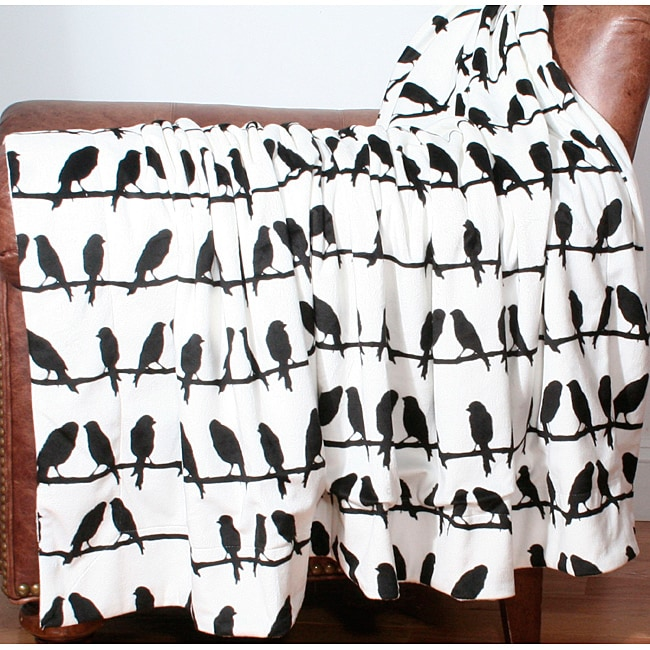 Birds on a Wire Printed Throw