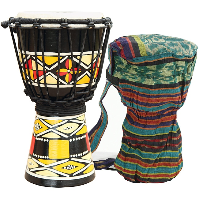 Native Sunrise Djembe Drum with Tote Bag (Indonesia)