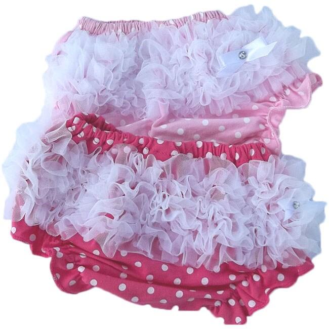 Pink Polka Dot Baby Bloomers (Set of 2)