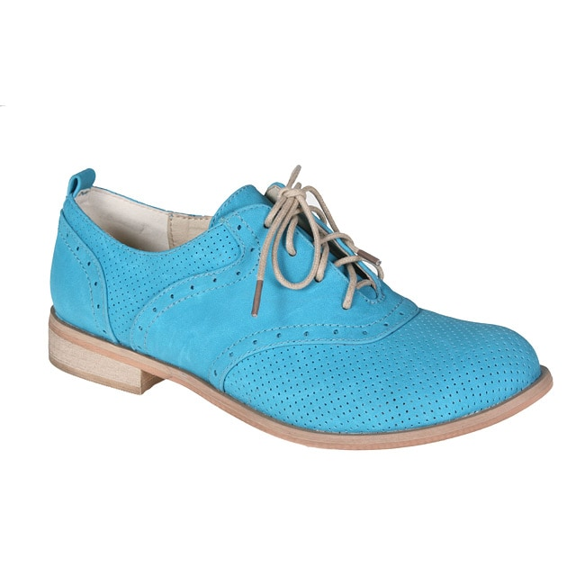 Refresh by Beston Women's 'ALEXIS-01' Man-Made Oxford Shoes - Thumbnail 0