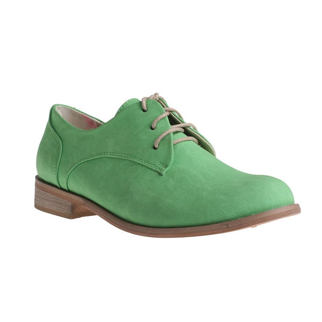 Refresh by Beston Women's 'ALEXIS-02' Oxford Shoes - Green - Thumbnail 0
