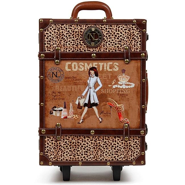Nicole Lee Abilene Vintage 19-inch Rolling Carry On Upright ...