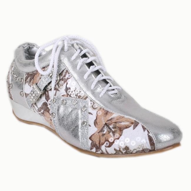 Bolaro by Beston Women's Silver Printed Sneakers