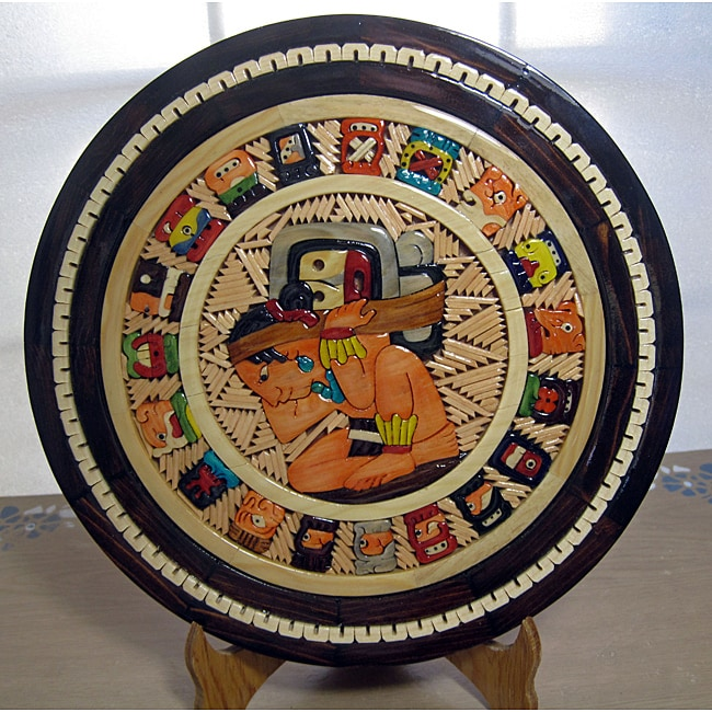 Hand-crafted Wooden Maya Calendar (Mexico)