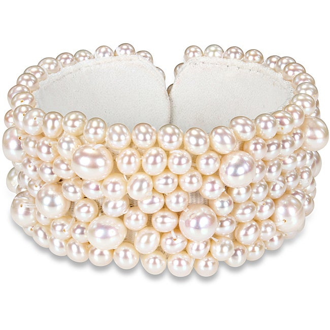 Miadora Pearl Elastic Bangle (5.5-8 mm)