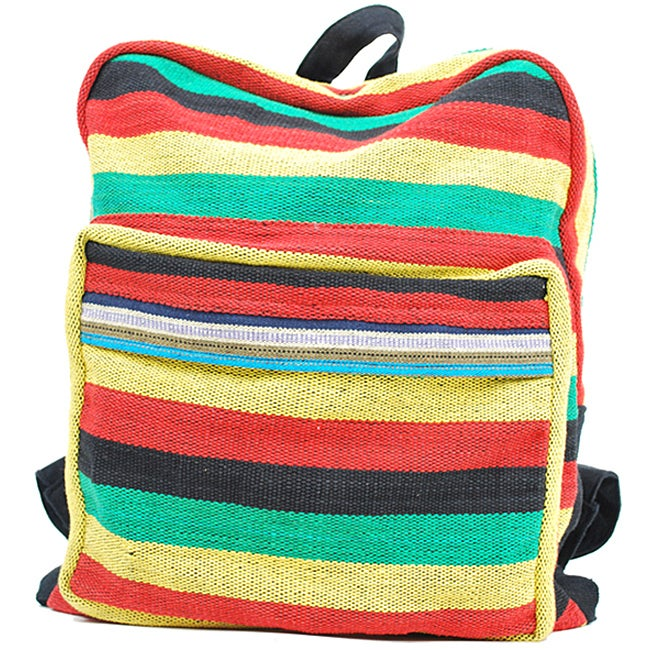 Cotton Rasta Back Pack (Nepal) - Thumbnail 0
