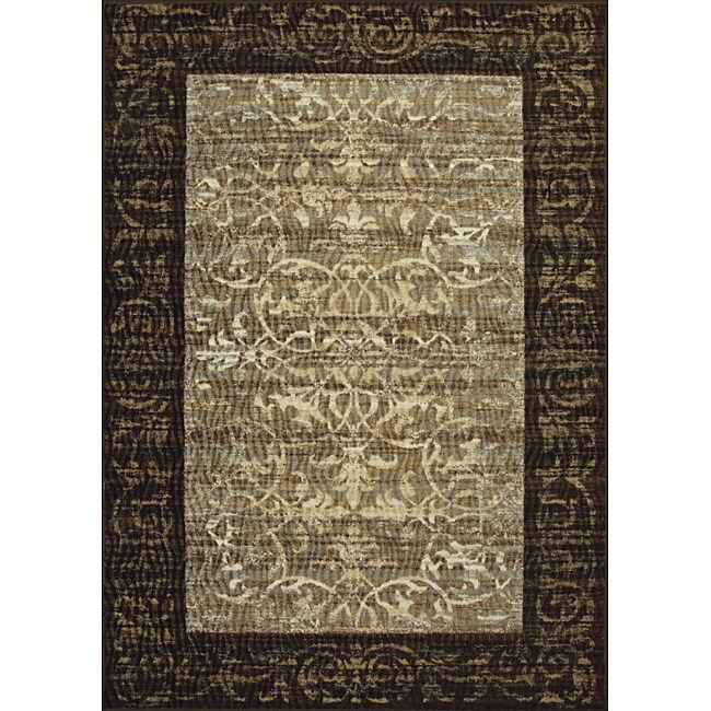 Somette Avante Delicate Attentions Chocolate Rug (5' x 7')