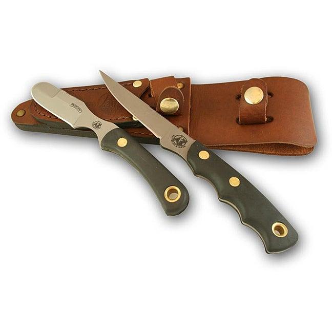 Knives of Alaska Jaeger/Muskrat Suregrip Combo Knife Set