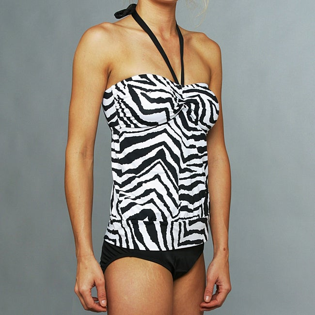 Jantzen Black and White Tankini - Thumbnail 0