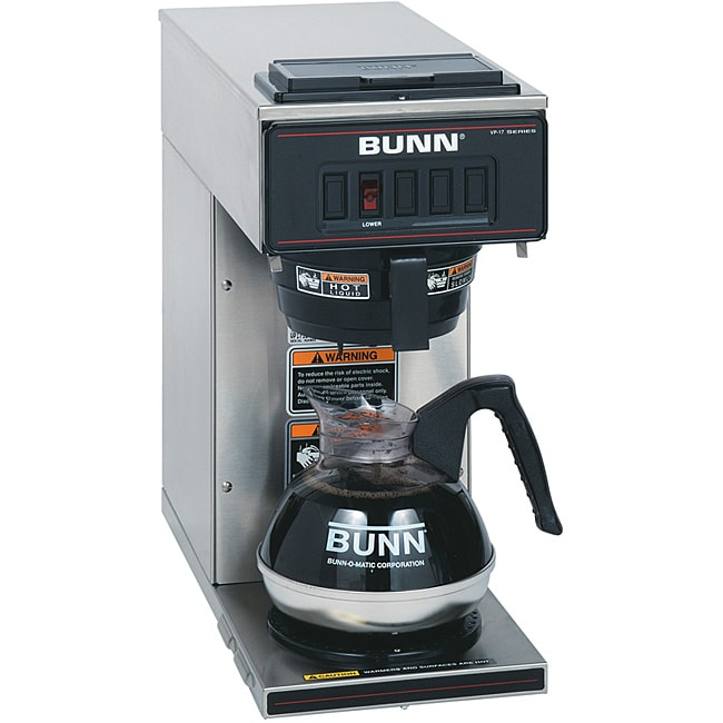 Bunn Coffee Maker Overstock : BUNN VP17-1SS 1-warmer Pourover Coffee Brewer - Free Shipping Today - Overstock.com - 14254738