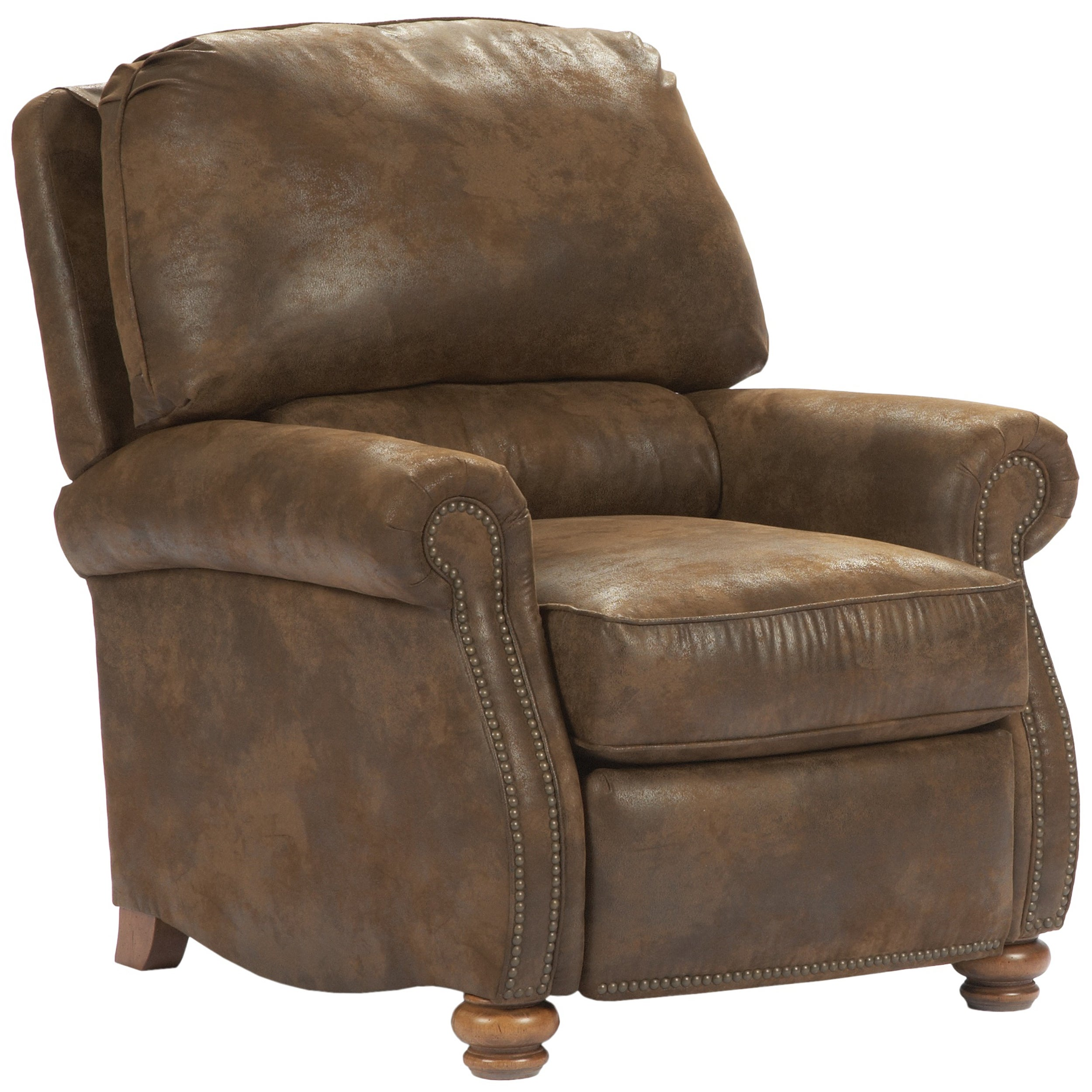 Broyhill Marie Brown Push Back Loose Seat Cushion Recliner