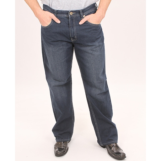 Jeans Colony Men's Relaxed Fit Embroidered Jeans