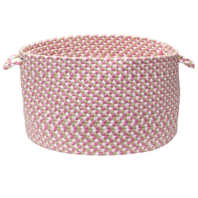 Pinwheel Pink Storage Basket