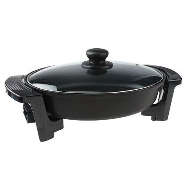 Cook's Essentials 10x12-inch Oval Nonstick Electric Heavy Duty Skillet (Refurbished)