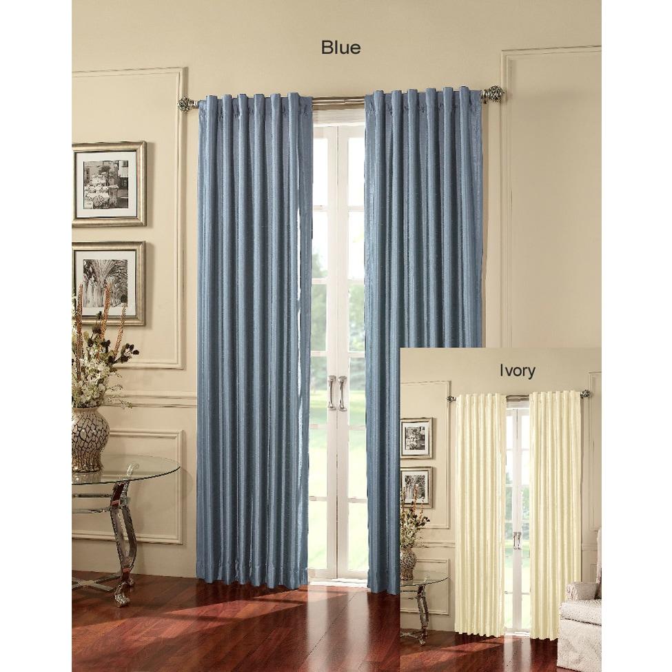 Shop Chelsea 84 Inch Satin Room Darkening Curtain Panels