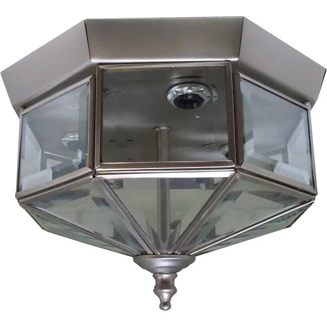 Satin Nickel 3-light Flush Mount Light Fixture