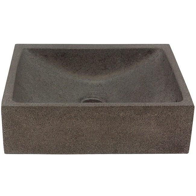 Half Moon Concrete Grey Vessel Bathroom Sink