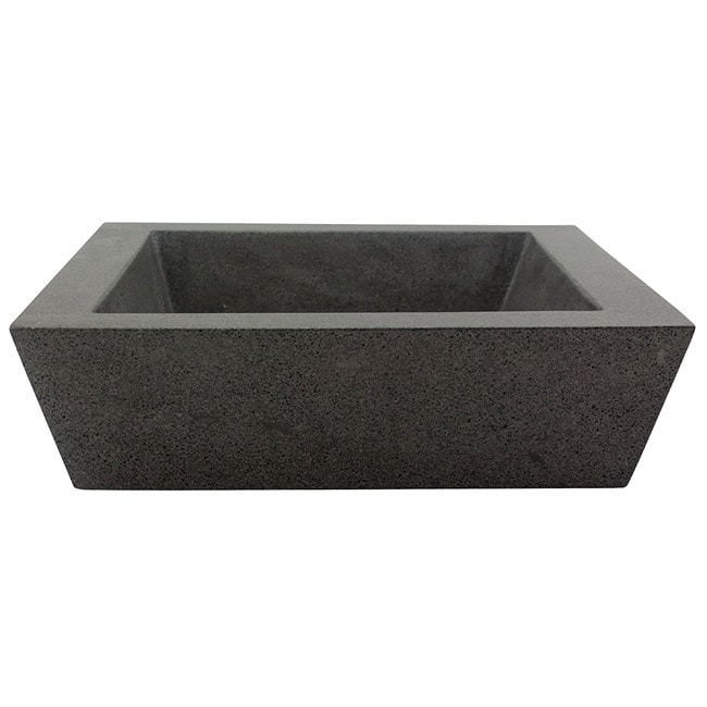 Square Incline Concrete Grey Vessel Bathroom Sink Free Shipping Today 14263285