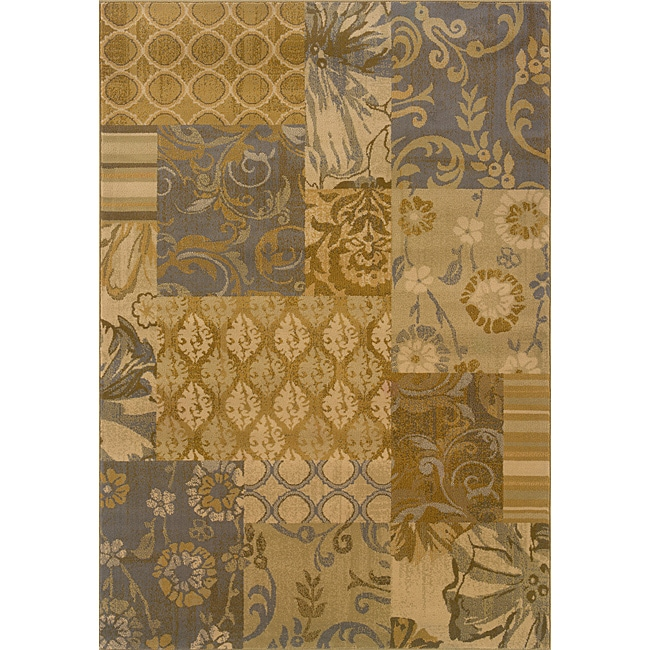 Gold/ Grey Transitional Area Rug (1'10 x 3'3)