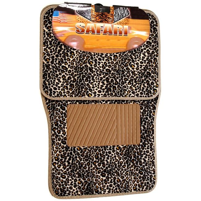 Shop Bdk Car Safari Cheetah Floor Mats Set Of 4 Free