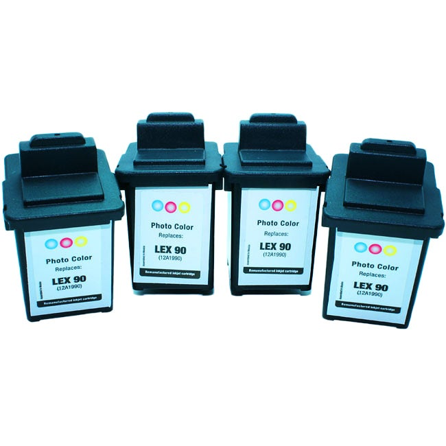 Lexmark Photo Color Inkjet Cartridges (Pack of 4) (Remanufactured)