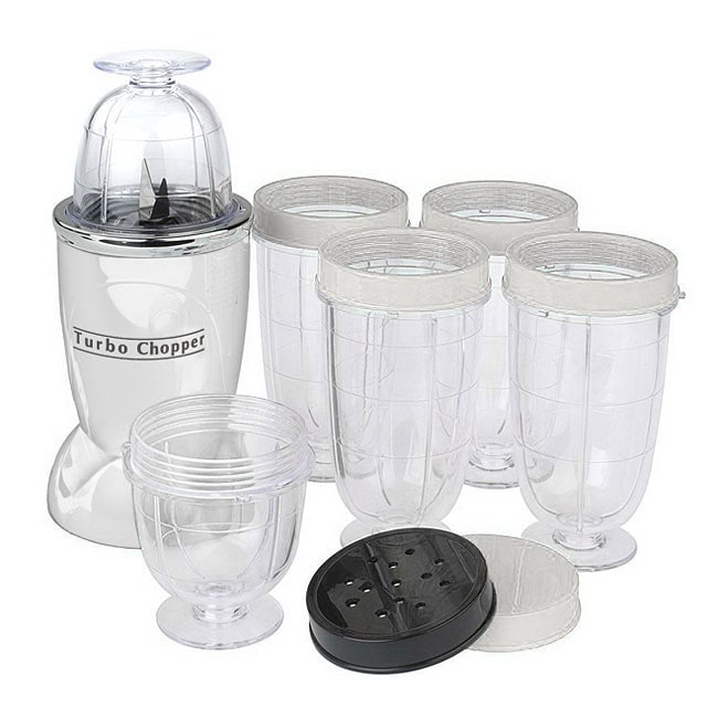 Cook's Essentials White 10-piece Turbo Chopper Express