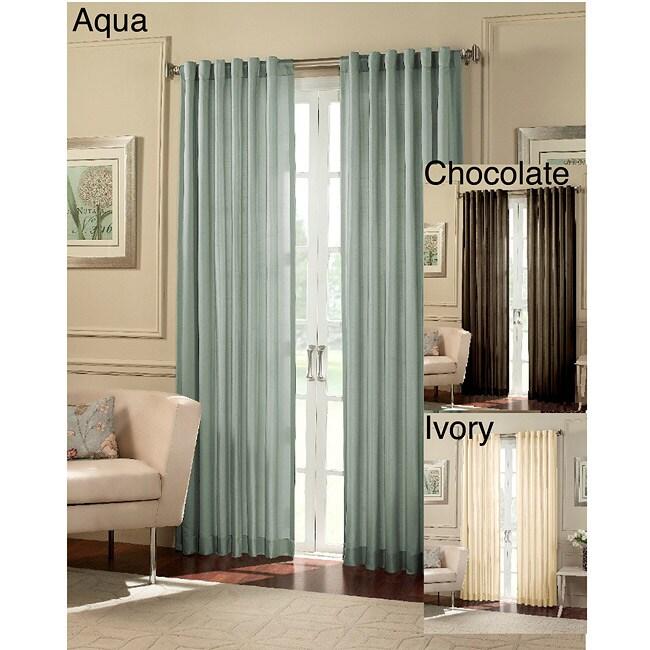 Cooper Faux Silk 95-Inch Stripe Curtain Panel Pair