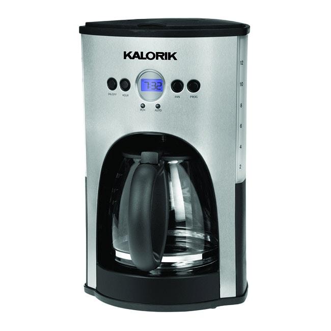 Refurbished Kalorik Stainless Steel/Black Programmable 12 Cup Coffee Maker