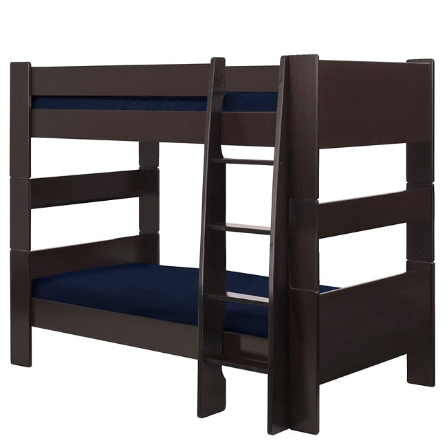 Shop Popsicle Espresso Twin Over Twin Bunk Bed Free