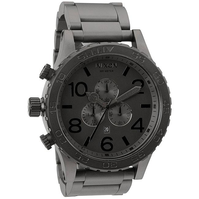 Nixon Men's '51-30' Stainless Steel Gunmetal Watch