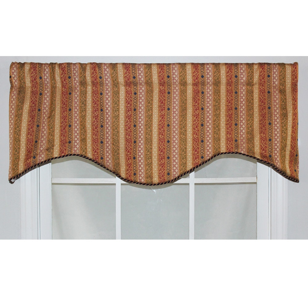 RLF Home Multi 17-inch Dublin Cornice Window Valance