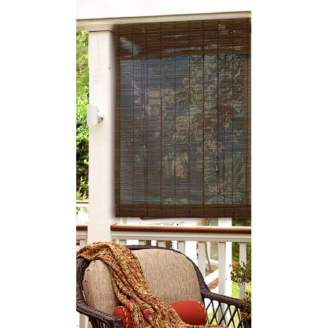 48 x 72 inch Privacy Matchstick Roman Shade in Cocoa