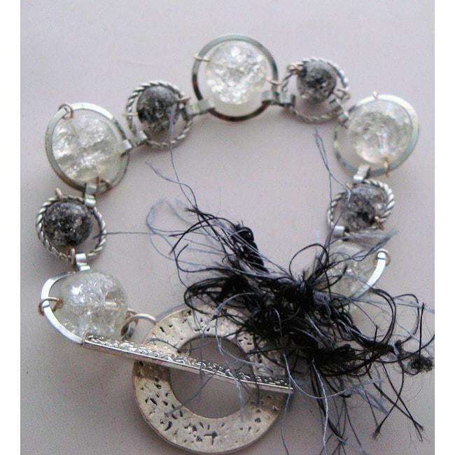 Cracked Glass Linked Bracelet