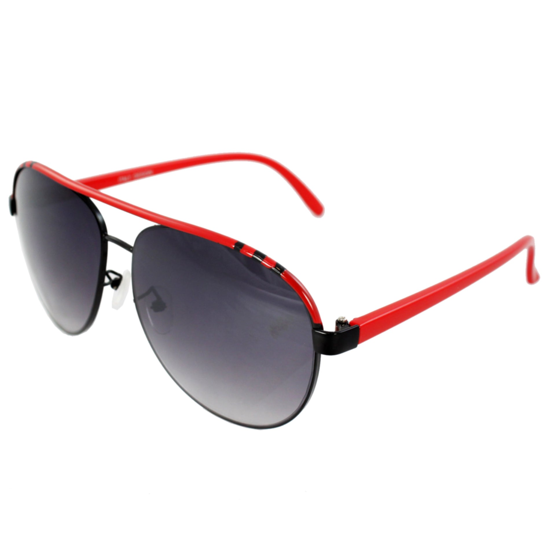 Pilot Aviator Fashion Sunglasses Red Frame Purple Black Lenses for Women and Men