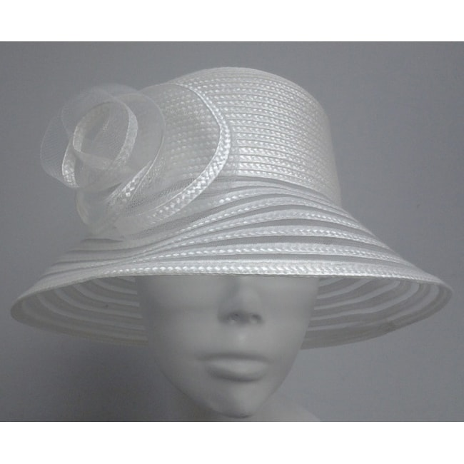 Swan Women's White Braided Bucket Hat